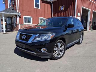 Used 2014 Nissan Pathfinder Platinum TV Entertainment. Leather. Navigation. Fully Loaded! for sale in Dunnville, ON
