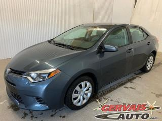 Used 2016 Toyota Corolla LE Caméra de recul A/C Bluetooth *Transmission Automatique* for sale in Shawinigan, QC