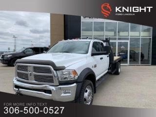 Used 2012 RAM 5500 SLT, Flat Deck, Rare Find!!! for sale in Moose Jaw, SK