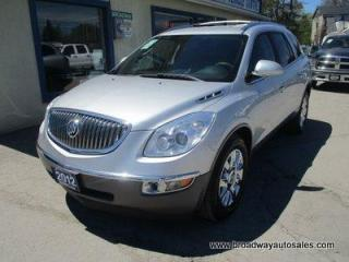 Used 2012 Buick Enclave ALL-WHEEL DRIVE PREMIUM EDITION 7 PASSENGER 3.6L - V6.. CAPTAINS.. 3RD ROW.. LEATHER.. HEATED/AC SEATS.. BACK-UP CAMERA.. BOSE AUDIO.. DUAL DVD.. for sale in Bradford, ON