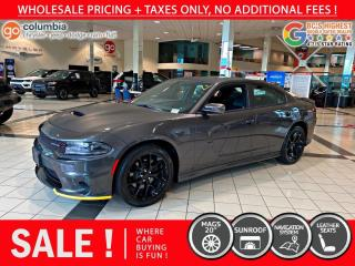Used 2019 Dodge Charger GT Blackout Ed. - Nav / Sunroof / No Accident / Local for sale in Richmond, BC