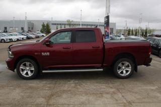 Used 2018 RAM 1500 SPORT/ECO DIESEL/SPORTHOOD/TONNEAUCOVER/REARSENSORS/LEATHER/SUNROOF for sale in Edmonton, AB