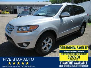 Used 2010 Hyundai Santa Fe GL AWD *Clean Carfax* Certified + 6 Month Warranty for sale in Brantford, ON