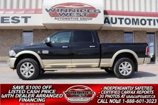 Used 2016 RAM 2500 LONGHORN CREW 6.7L CUMMINS 4X4, LOADED, FLAWLESS!! for sale in Headingley, MB