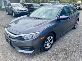 Used 2018 Honda Civic Sedan LX , automatic, reverse camera, bluetooth, no accidents for sale in Halton Hills, ON