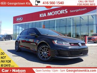 Used 2015 Volkswagen GTI TECH | 6 SPEED MAN TRANS| LEATHER | ACCIDENT FREE for sale in Georgetown, ON