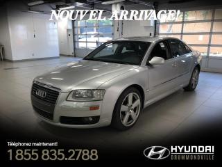 Used 2007 Audi A8 4.2 QUATTRO + TOIT + BOSE + CUIR + MAGS for sale in Drummondville, QC