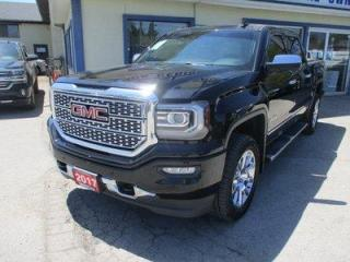 Used 2017 GMC Sierra 1500 LOADED DENALI EDITION 5 PASSENGER 5.3L - VORTEC.. 4X4.. CREW-CAB.. SHORTY.. NAVIGATION.. LEATHER.. HEATED/AC SEATS.. BACK-UP CAMERA.. POWER SUNROOF.. for sale in Bradford, ON