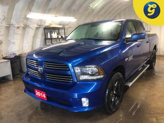 Used 2014 RAM 1500 Sport * Crew Cab * 5.7L Hemi * 4X4 * Navigation * Leather Trimmed Seats * Blacked Out 20 inch Rims * Tunnel Cover * Chrome Side Steps *  Spayed in Bed for sale in Cambridge, ON