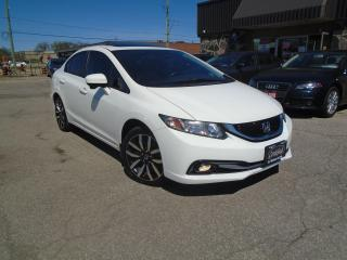 Used 2014 Honda Civic Touring NO ACCIDENT EXT HONDA WARRANTY NAV B-TOOTH for sale in Oakville, ON