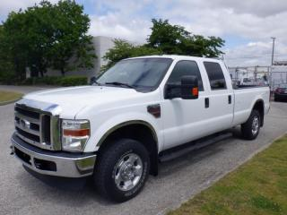 Used 2010 Ford F-250 SD XLT  Crew Cab 4WD 8 Foot Box Diesel for sale in Burnaby, BC