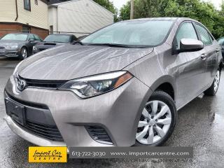 Used 2016 Toyota Corolla LE HEATED SEATS  AUTO  BACKUP CAM for sale in Ottawa, ON