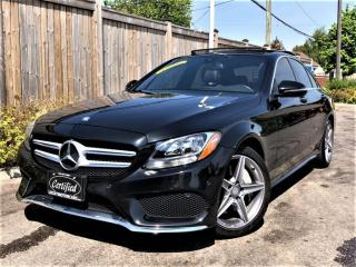 Used 2016 Mercedes-Benz C-Class C300 4MATIC AMG SPORT PKG-PANOROOF-CAM-PARKTRONIC-NAV-49KM for sale in Toronto, ON