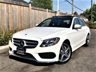 Used 2016 Mercedes-Benz C-Class C300 4MATIC AMG SPORT PKG-PANO-CAMERA-BLINDSPOT-NAV-60KMS for sale in Toronto, ON