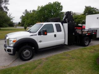 Used 2012 Ford F-550 Flat Deck 5 Foot Crane 4WD Diesel for sale in Burnaby, BC