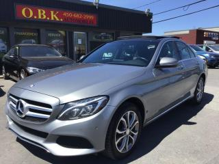 Used 2016 Mercedes-Benz C-Class C 300 4MATIC-NAVIGATION-CAM RECUL-TOIT OUVRANT PA for sale in Laval, QC