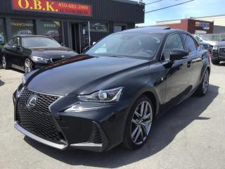 Used 2017 Lexus IS 300 F SPORT- IS 350-LEVEL 2-AWD-NAVI-TOIT-CAM RECUL for sale in Laval, QC