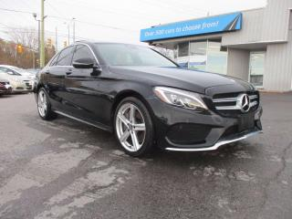 Used 2016 Mercedes-Benz C-Class LEATHER, PANOROOF, NAV, AMG WHEELS!! for sale in Richmond, ON