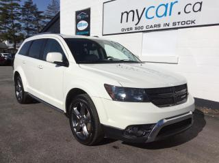 Used 2017 Dodge Journey Crossroad LEATHER, HEATED SEATS, BACKUP CAM, V6!! for sale in Richmond, ON