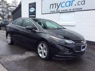 Used 2018 Chevrolet Cruze Premier Auto LEATHER, HEATED SEATS, ALLOYS, BACKUP CAM!! for sale in Richmond, ON