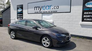 Used 2017 Chevrolet Cruze Premier Auto LEATHER, HEATED SEATS, ALLOYS, BACKUP CAM!! for sale in North Bay, ON