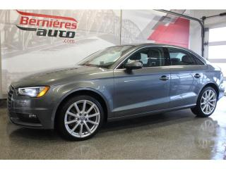 Used 2016 Audi A3 KOMFORT QUATTRO 2.0 TFSI for sale in Lévis, QC