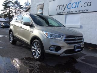 Used 2017 Ford Escape Titanium LEATHER, NAV, PWR HEATED SEATS, BACKUP CAM!! for sale in Kingston, ON