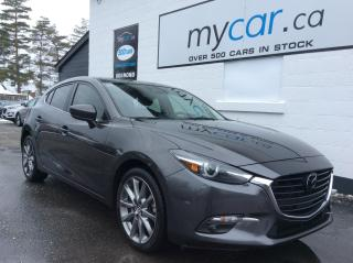 Used 2018 Mazda MAZDA3 GT NAV, LEATHER, SUNROOF, HEATED SEATS, WOW!! for sale in North Bay, ON