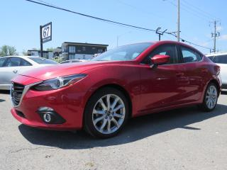 Used 2016 Mazda MAZDA3 GT NAVI HUD CUIR TOIT MAGS 18 BOSE **47,000KM** for sale in St-Eustache, QC