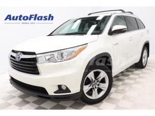 Used 2016 Toyota Highlander HYBRID Limited Hybrid/Electric *7-Pass *Blind-Spot for sale in St-Hubert, QC