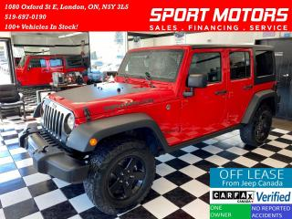 Used 2017 Jeep Wrangler Big Bear+Camera+GPS+Bluetooth+Cruise+Accident Free for sale in London, ON