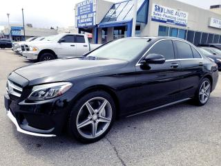 Used 2016 Mercedes-Benz C-Class 360 CAMERAS|NAVIGATION|AWD|BLIND SPOT|PANORAMIC|CERTIFIED for sale in Concord, ON