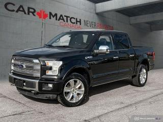 Used 2015 Ford F-150 PLATINUM / NO ACCIDENTS / CREW CAB for sale in Cambridge, ON