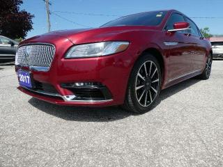 Used 2017 Lincoln Continental Reserve | Cooled Seats | Navigation | Remote Start for sale in Essex, ON