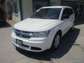 Used 2014 Dodge Journey FAMILY MOVING SE EDITION 7 PASSENGER 2.4L - DOHC.. MIDDLE BENCH.. THIRD ROW.. BLUETOOTH SYSTEM.. KEYLESS ENTRY & START.. TOUCH SCREEN DISPLAY.. for sale in Bradford, ON