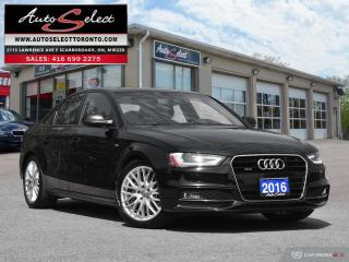 Used 2016 Audi A4 Quattro AWD ONLY 66K! **S-LINE PKG** LED LIGHTING PKG for sale in Scarborough, ON
