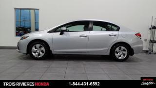 Used 2015 Honda Civic LX + GARANTIE 5/120 + BAS KILO + BLUETOO for sale in Trois-Rivières, QC