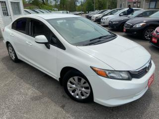 Used 2012 Honda Civic LX/ AUTO/ PWR GROUP/ BLUETOOTH/ TINTED/ COLD A/C! for sale in Scarborough, ON