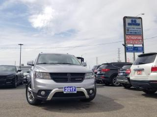 Used 2017 Dodge Journey Crossroad navigation accident free clean carfax for sale in Brampton, ON
