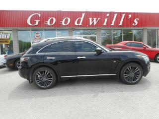Used 2017 Infiniti QX70 LTD! LOADED! CLEAN CARPROOF! REMOTE START! NAV! for sale in Aylmer, ON