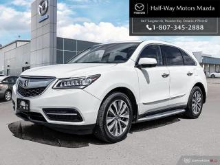 Used 2016 Acura MDX Tech for sale in Thunder Bay, ON