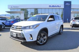 Used 2017 Toyota Highlander HYBRID Limited HYBRID - 33000KM. for sale in Port Coquitlam, BC