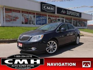 Used 2016 Buick Verano Leather  LEATH ROOF BLUETOOTH REAR-CAM HS for sale in St. Catharines, ON