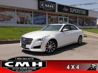 Used 2016 Cadillac CTS Luxury  AWD CAM LD BS XTRAFFIC BT P/SEAT HS/CS for sale in St. Catharines, ON