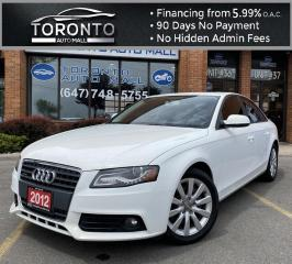 Used 2012 Audi A4 2.0T Sedan quattro Tiptronic Leather Heated Seats Moonroof No Accidents for sale in North York, ON