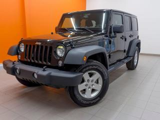 Used 2018 Jeep Wrangler SPORT 4X4 CLIMATISEUR MAGS *100% APPROUVÉ* for sale in Mirabel, QC