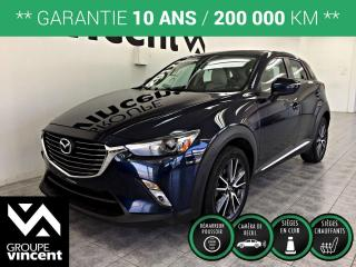 Used 2017 Mazda CX-3 GT AWD ** GARANTIE 10 ANS ** Performance, style et économie d'essence grâce à la tech. SKYACTIV, le CX-3, un choix d?excellence! for sale in Shawinigan, QC