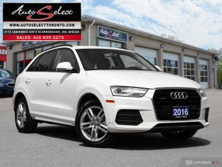 Used 2016 Audi Q3 Quattro AWD ONLY 120K! **CLEAN CARPROOF** PAN-SUNROOF for sale in Scarborough, ON