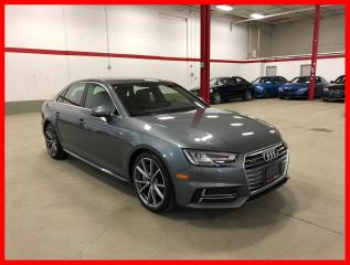 Used 2018 Audi A4 Sedan QUATTRO S-LINE SPORT DRIVER ASSISTANCE PROGRESSIV for sale in Vaughan, ON