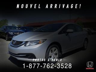 Used 2015 Honda Civic LX + A/C + CRUISE + AUTO + WOW! for sale in St-Basile-le-Grand, QC
